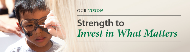 Strength to Invest in What Matters